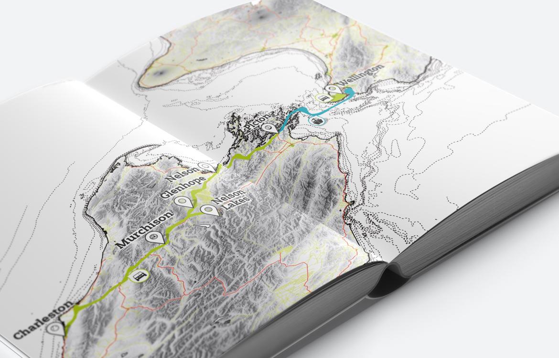 Karteansicht Neuseeland Reisebuch
